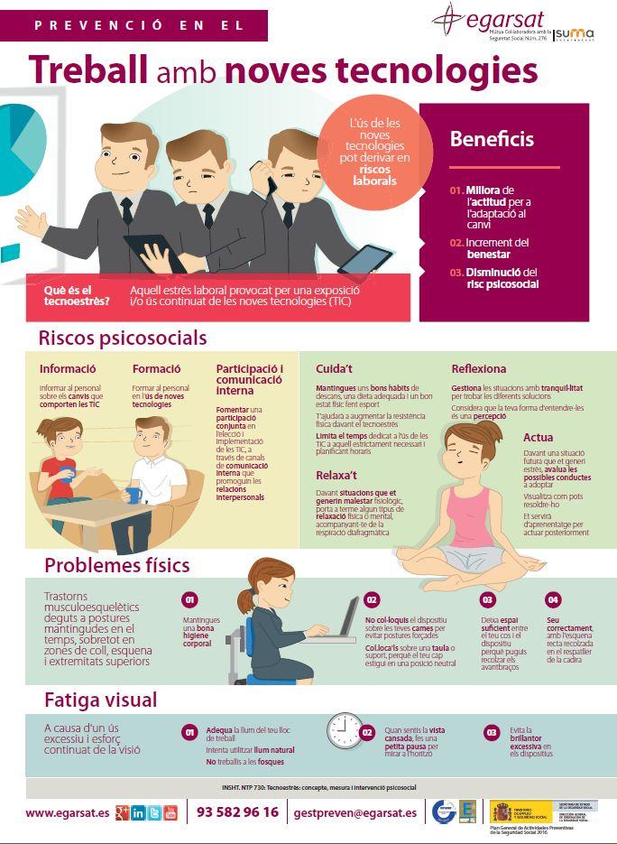 Prevenció en el treball amb les noves tecnologies